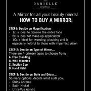 Danielle-Mini-miroir--pied-grossissant-x-4-avec-boule-en-verre-Chrome-85-cm-0-0