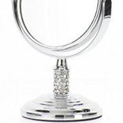 Danielle-Mini-miroir--pied-grossissant-x-4-avec-boule-en-verre-Chrome-85-cm-0