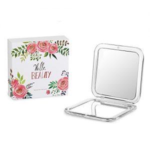 Jerrybox-Miroir-de-Poche-Grossissement-5X-et-1X-Double-Face-Compact-Cadeau-Idal-pour-Femmes-Miroir-de-Poche-1X-et-5X-0