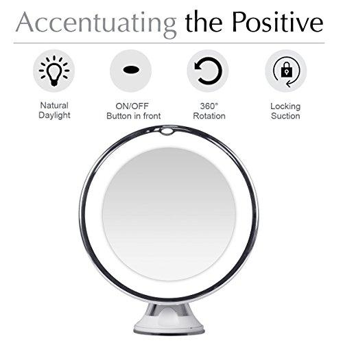 Achat kedsum miroir rond lumineux 10x grossissement for Miroir rond lumineux