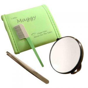 Mini-miroir-grossissant-20x-avec-pince--piler-et-peigne-LITTLE-MAGGY-0
