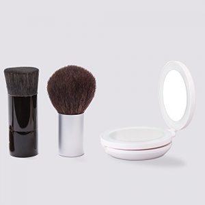 Miroir-Maquillage-Leeron-Miroir-de-Portable-Pour-Voyage-Pliant-Double-Face-Grossissement-1x10x-clair-LED-Cosmtique-Compact-0
