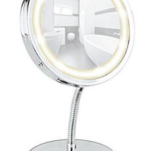 Miroir-cosmtique-sur-pied-Brolo-orientable--DEL-300-chrome-miroir-de--11-cm-15-x-165-x-13-cm-0