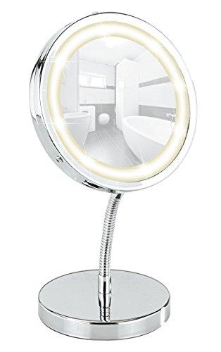 Miroir-cosmtique-sur-pied-Brolo-orientable–DEL-300-chrome-miroir-de–11-cm-15-x-165-x-13-cm-0