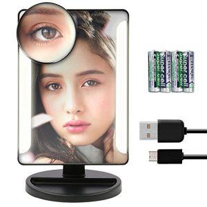 Miroir-de-maquillage-cran-tactile-38-pcs-ampoule-LED-Lumire-Miroir-Miroir-de-courtoisie-clair-avec-amovible-10-x-Grossissement-spot-Miroir-Miroir-de-maquillage-Incluent-Lot-de-4-piles-AA-cble-USB-0