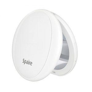 Spaire-Miroir-de-Poche-Double-Face-1x-5x-Grossissant-Miroir-Lumineux-USB-Rechargeable-Mirror-Portable-pour-Maquillage-Voyage-Cadeaux-etc-Blanc-0