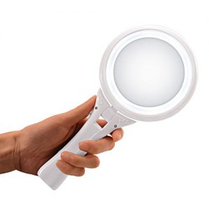 Xcellent-Global-Miroir-Maquillage-De-Poche-Double-Face-Grossissant-1x5x-Miroir-Cosmtique-Vanit-LED-Pliable-Ajustable-et-Mains-Libres-Blanc-HG116-0