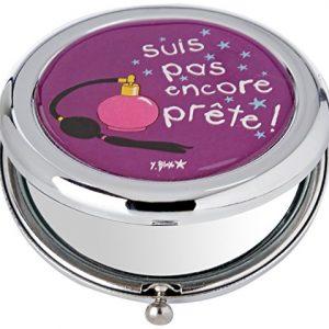Incidence-Paris-Miroir-de-Poche-Mtal-pas-Encore-Prte-6-cm-Violet-0
