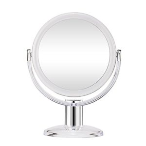 Gotofine-Miroir-de-Maquillage-10-x-Grossissement-Miroir-de-Table-Doubleface-Muni-dun-Pied-avec-Rotation--360-Degrs-Clair-et-Transparent-0