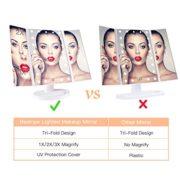 BESTOPE-Miroir-Maquillage-Cosmtique-21-LED-claires-Miroir-Lumire-Triple-de-Pliable-Grossissement-1X2X3X-Miroirs-LED-180Ajustable-Avec-Bouton-tactile-Batterie-cble-USB-0-0