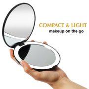 Fancii-LED-Miroir-de-Poche-Lumineux-Grossissant-1x-10x-Grand-Miroir--Main-de-Maquillage-avec-clairage-Naturel-127-cm-de-Diamtre-Compact-et-Portable-pour-Voyage-0-0