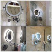 GURUN-8-Pouces-LED-Miroir-Mural-Grossissant-Lumineux-Extension-Pliant-Double-Face-avec-normale-et-Grossissant-x7-360-degres-rotation-1805D7X-0-0