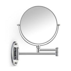 Gazechimp-LED-Miroir-Mural-Recto-Verso-Grossissant-5x-Lumineux-Extension-360-Degrs-Rotation-pour-Maquillage-Rassage-EU-0