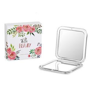 Lavany Miroir De Poche Grossissant 10x Double Face Miroir à Main