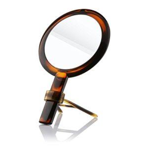 Beautifive-Miroir-Grossissant-7x-de-Double-Face-Miroir-Maquillage-de-Beaut--Main-Miroir-de-Poche-cosmtique-Portatif-et-Table-sur-Pied-Couleur-Ambre-lgante-0