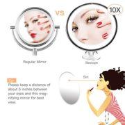 Bestope-miroir-maquillage-grossissant-10x-Lumineux16-LED-360rotation-ajustablefonctionnant-sur-pilesmiroir-de-salle-de-bain-portable-lumineux-sans-fil-Blanc-0-0