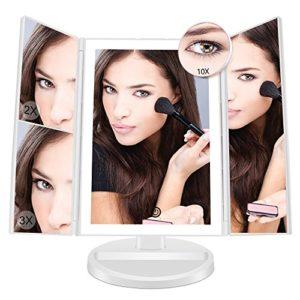 Fascinate-LED-lumineux-miroir-maquillageeclairant-miroir-cosmtique-avec-10x-3x-2x-1x-grossissant-lumineux-cran-tactile180--Ajustable-Avec-Bouton-tactile-Batterie-cble-USB-coiffeuse-Miroir-0