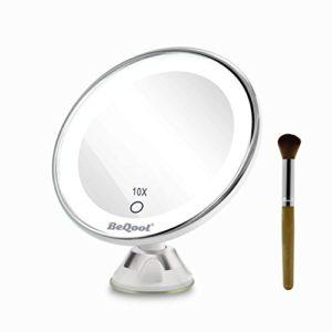 Miroir-Grossissant-Miroir-Maquillage-10X-a-grossi-la-vanit-de-maquillage-miroir-cosmtique-illumin-de-couleur-de-lumire-du-jourVentouse-dAttache-Ajustable--360-Miroir-clair-Portable-0