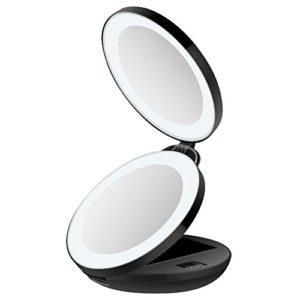 Miroir-de-Poche-Lumineux-Miroir-de-Maquillage-Pliable-et-Portable-16-LED-Grossissant-1x-et-10xUnodeco-U033-0
