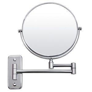 SONGMICS-BBM001-Miroir-cosmtique-mural--2-cts-avec-miroir-grossissant-8-cm-Argent-0