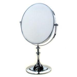 TUKA-Miroir-Cosmtique-sur-Pied-7X-Grossissement--20-cm-Miroir-Maquillage-orientable-360-Miroir-de-Rasage-chromage-Miroir-de-salle-de-bain-Double-Visage-8-inch-Miroir-de-Table-TKD3105-7x-0