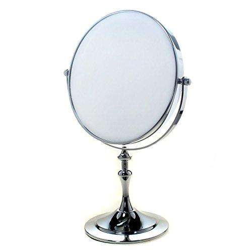 TUKA-Miroir-Cosmtique-sur-Pied-7X-Grossissement–20-cm-Miroir-Maquillage-orientable-360-Miroir-de-Rasage-chromage-Miroir-de-salle-de-bain-Double-Visage-8-inch-Miroir-de-Table-TKD3105-7x-0