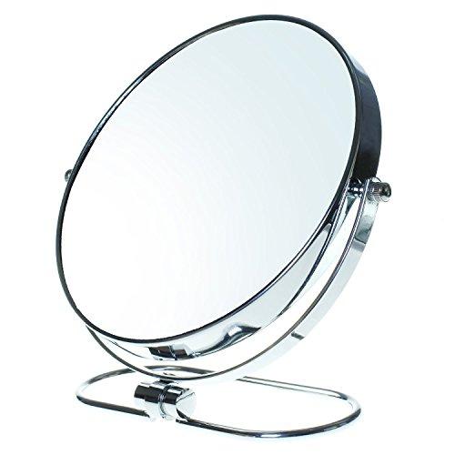 TUKA-Miroir-Maquillage-Pliable-x10-Grossissement-8-Miroir-Cosmtique-sur-Pied-Miroir-pour-la-Chambre-et-Voyage–20-cm-Miroir-de-Table-Double-Visage-Tournant-Miroir-de-Rasage-TKD3125-10x-0