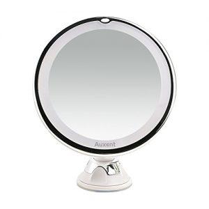 Auxent-Miroir-de-maquillage-LED-7x-agrandissant-miroir-lumineux-de-vanit-cosmtique-avec-ventouse-rotation-360-portable-et-sans-fil-blanc-0