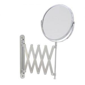 Axxentia-Bad-282802-Miroir-mural-grossissant-chrom-rond-Diamtre-de-17-cm-Grossissement-3-fois-Se-dplie-jusqu-57-cm-0