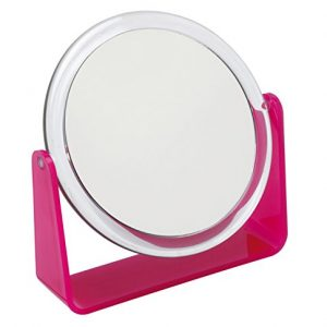 Fancy-Metal-Goods-Miroir-sur-pied-grossissant-rose-0