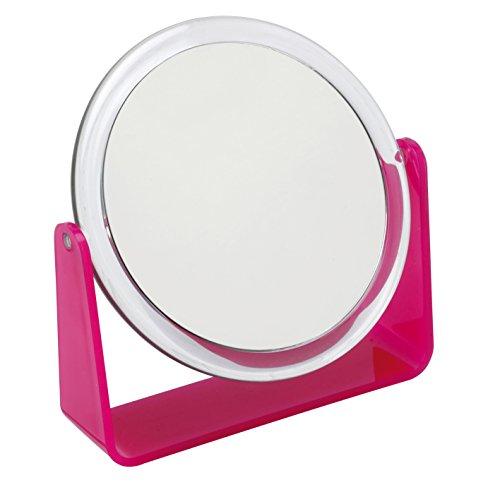 Fancy-Metal-Goods-Miroir-sur-pied-grossissant-rose-0