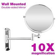 Floureon-8-Pouces-Miroir-Mural-Grossissant-10-Fois-Extension-Pliant-Double-Face-Normale-et-Grossissant-x10-360-Degrs-Rotation-0-0