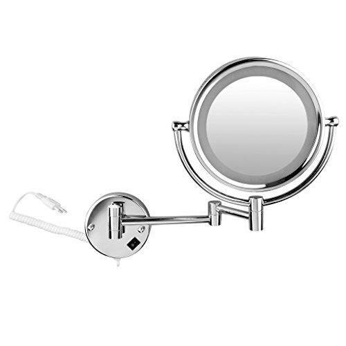 Achat Floureon 85 Pouces Led Miroir Mural Grossissant X10 Lumineux