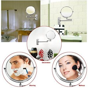 Songmics-7-Compartiment-Normal-Miroir-cosmtique-de-8-inch-Miroir-grossissant-double-face-miroir-mural-bbm713-0-0