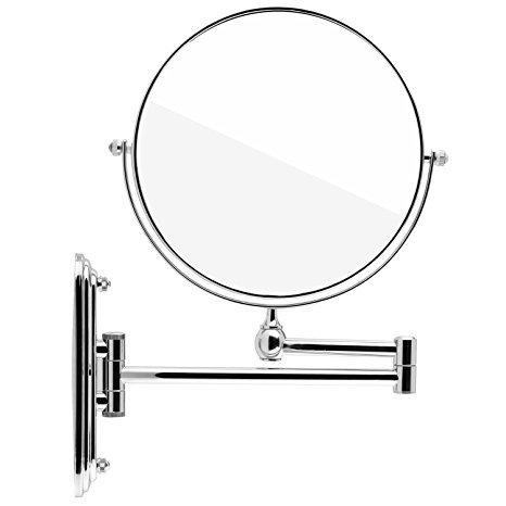 Spaire-Miroir-Salle-de-Bain-7x-Grossissant-Normal-Double-Face-8-Inch-Mural-Miroir-Maquillage-Grossissant-Pivotant-Extensible-et-Chrom-0