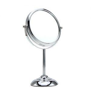 Anself-6-pouces-Miroir-Lumineux-Maquillage-En-Forme-Ronde-Double-Faces-Avec-Pied-10x-Grossissement-0