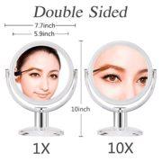 Gotofine-Miroir-de-Maquillage-10-x-Grossissement-Miroir-de-Table-Doubleface-Muni-dun-Pied-avec-Rotation--360-Degrs-Clair-et-Transparent-0-0