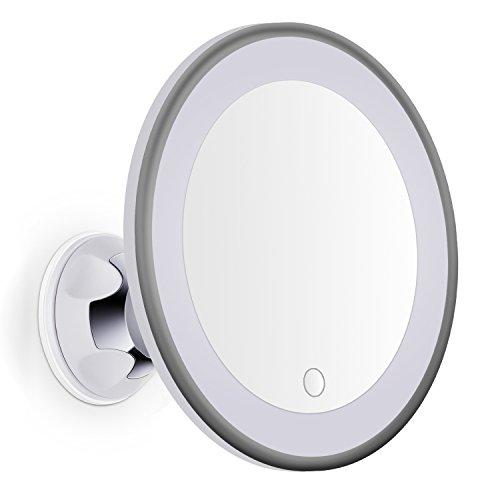 Bornku-Miroir-Grossissant-Lumineux-x7-LED-B60-Miroir-Maquillage-Intensit-de-la-Lumire-Rglable-et-Succion-Ventouse-pour-Salle-De-BainRasage-0