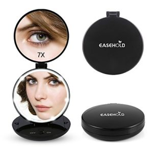Easehold-Miroir-de-Maquillage-cran-Tactile-avec-Lumire-Rglable-Ronde-Noir-0