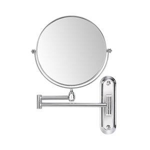 FEMOR-Miroir-Mural-Double-Face-360Pivotant-Extensible-cosmtique-de-8-inch-20cm-Miroir-Maquillage-grossissement-10-fois-0