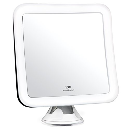 Fancii-Miroir-Grossissant-10x-de-Maquillage-avec-Lumires-LED-Miroir-clair-de-Voyage-Ventouse-dAttache-Sans-Fil-Ajustable–360-Miroir-clair-Carr-Portable-0