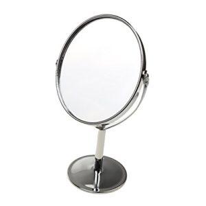 Gazechimp-Miroir-de-Table-Miroir-Cosmtique-sur-Pied-Double-Face-Pivotante-Normal-et-Miroir-Grossissant-1x-2x-0