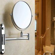 Malayas-8Pouces-Miroir-Maquillage-Mural-Rond-Grossissant10x-Miroir-de-Maquillage-Pivotant-Extensible-Pliant-de-Double-Facepour-Salle-de-Bain-Argent-0