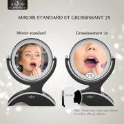 Miroir-Grossissant-Lumineux-7x-Anjou-Miroir-Maquillage-Portable-Double-Face-Rotation-360-Aspect-Vintage-ArgentNoir-Amovible-et-Aliment-par-3x-Piles-AA-Gratuites-0-0