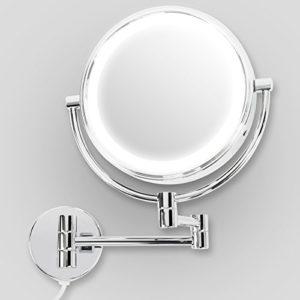 Miroir-mural-casa-pura-avec-LED-3-degrs-de-grossissement-au-choix-360-rotation-montage-facile-grossissement-7x-Athena-0