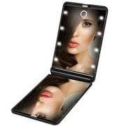 Rantizon-Miroir-de-Poche-8-LEDs-Miroir-Illumin-de-Maquillage-Miroir-Portable-Maquillage-1X-2X-Grossissant-Double-Face-Ajustable-Lumire-Pliable-pour-le-Maquillage-Voyage-0