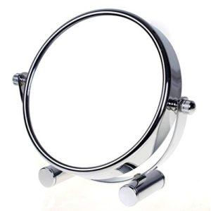 TUKA-Miroir-Maquillage-Grossissement-x10-5-inch-Compact-Miroir-Cosmtique-sur-Pied-chrome--125-cm-100-et-1000-orientable-sur-360-Haute-Qualit-miroir-de-Table-TKD3104-10x-0
