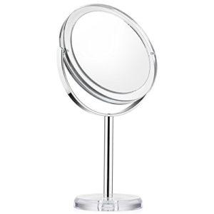 Beautifive-Miroir-de-Maquillage-Grossissant-1x-et-7x-Pivot--Deux-Cts-6-Large-Miroir-Vanity-de-Table-Rotation--360-Degrs-Miroir-Cosmtique-avec-Support-Style-Rtro-0