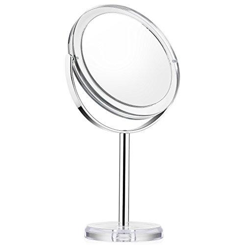 Beautifive-Miroir-de-Maquillage-Grossissant-1x-et-7x-Pivot–Deux-Cts-6-Large-Miroir-Vanity-de-Table-Rotation–360-Degrs-Miroir-Cosmtique-avec-Support-Style-Rtro-0