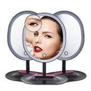 DAXGD-Miroir-de-maquillage-avec-16-LEDs-10X-Grossissant-Miroir-de-table-avec-USB-cable-Noir-0-0